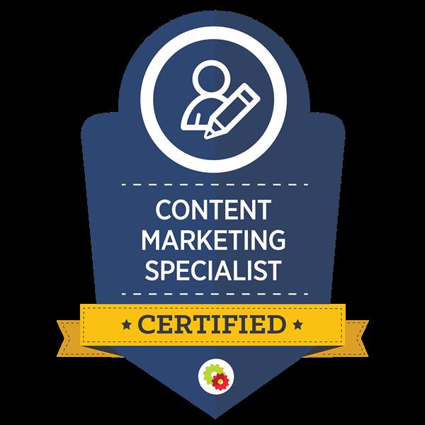 Content Marketing Specialist badge